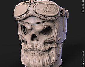3D print model Biker skull vol1B pen holder