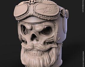 3D print model Biker skull vol1B pen holder
