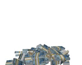 FALLING MONEY AND RAIN MONEY AND FALLING - CINEMA 4D 3D