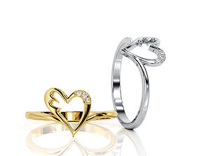 Heart Ring R F 0007 3D print model