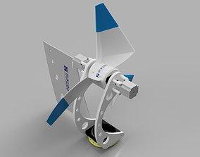 Advanced Horizontal Axis Wind Turbine 3D print model
