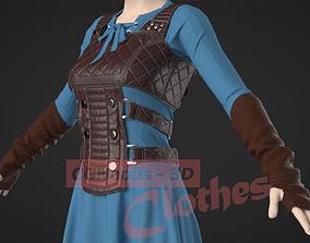 Female Medieval Fantasy Outfit - 48 Marvelous Designer 2