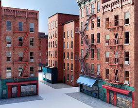 3D model Chicago brick building 2