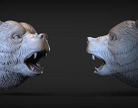 Angry Bear head 2 3D printable model