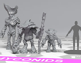 3D printable model Myconids - DnD Monsters - 3 Units