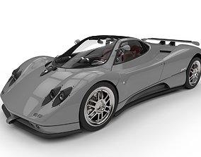 3D model Pagani Zonda C12 Supercar High Poly