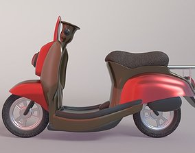 3D Delivery Scooter game-ready