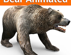 animated Bear Rigged and animated 3D