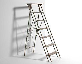 Vintage Step Ladder 3D model