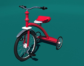Red Tricycle 3D model