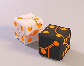 Dice cube bone 3D model