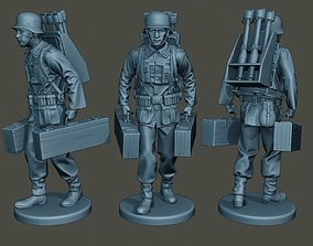 3D print model German soldier ww2 carrying rockets G4