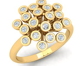 the latest fashion diomand ring 3d Model