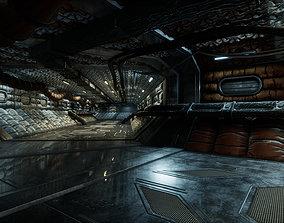 3D asset Modular Sci Fi Corridor