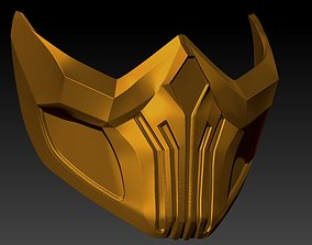 Skorpion mask from MK11 for 3d printing