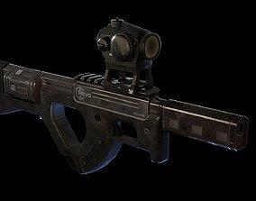 3D model Revo bullpup heavy revolver