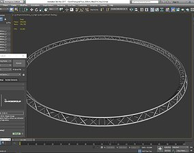 3D printable model Circle Triangular Truss Full diameter 1
