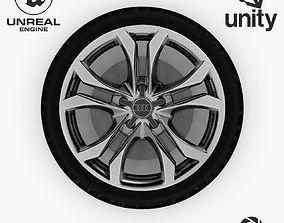 3D model Wheel Steel-Chrome Alloy Rim Audi 19 3