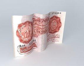 3D model Ten Bob Note! 1950 UK