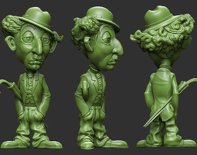 3D print model charlie chaplin cartoon