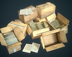 3D model Cardboard Boxes collection - Game ready props