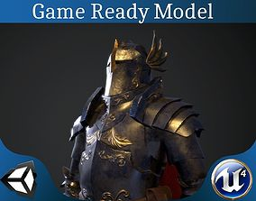 Paladin armor set 3D model low-poly