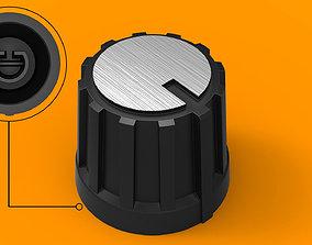 Potentiometer knob 6mm 3D printable model