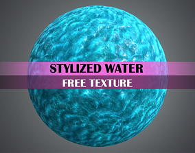 Stylized Water Texture 3D model