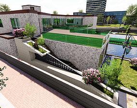 architecture 3D villa garden