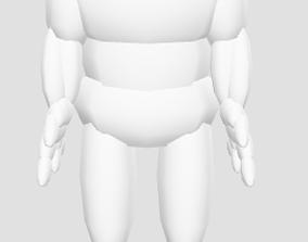 3D model Anotomical THREE js Body simplistic