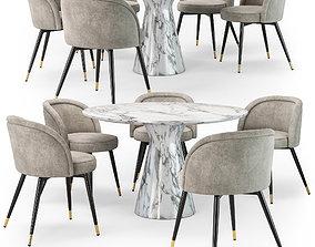 Eichholtz Chloe chair Turner dining table 3D model