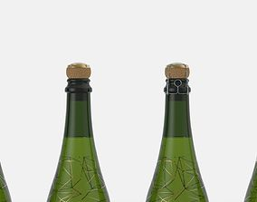 Champagne with capsule 3D model