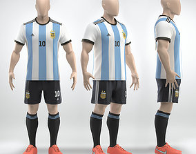 Soccer team uniform 3D model sport