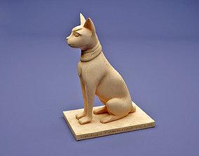 egyptian 3D print model Egyptian cat
