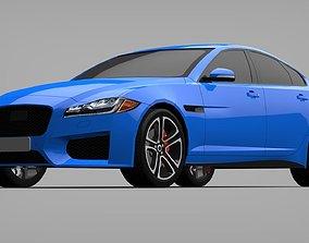 Sports Sedan Game-Ready Model Low-poly 3D model game-ready