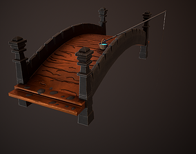 Concept Stylized Bridge 3D model