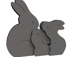 Easter Rabbit Puzzle 3D print model