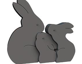 Easter Rabbit Puzzle 3D print model