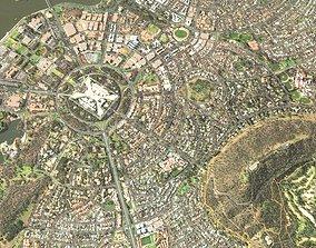 altitude Cityscape Canberra Australia 3D