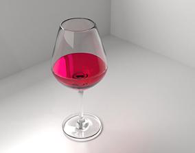 3D Wine Glass 4 with Liquid