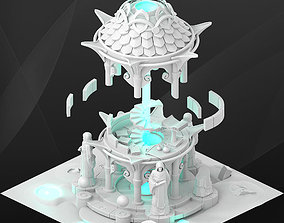 Fantasy game building - Mage tower 3D model