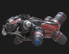 3D asset Flying truck