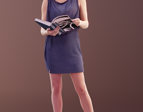 Ina 10059 - Reading Business Woman 3D model