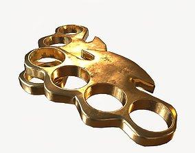 3D model Brass Knuckle Gold