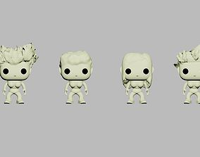 Custom Pop Female 4 Set 3D Printable