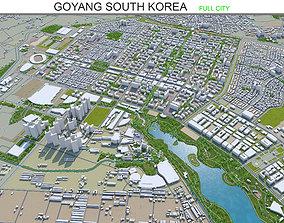 3D model Goyang South Korea 40km