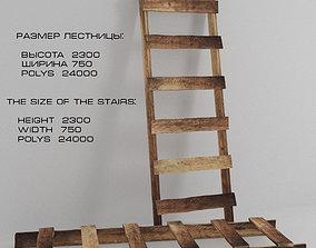 3D model Ladder stepladder