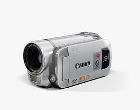 3D model Canon FS400 Silver camcorder
