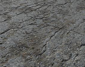 3D Old asphalt road PBR