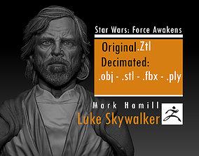 Mark Hamill - Luke Skywalker -old - 3D printable model 4